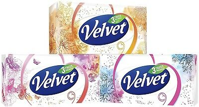 Quality Velvet Classic Three Ply Facial Tissues (Pack Of 4, Total 320 Tissues) *
