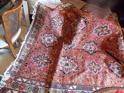 Old Traditional Hand Made Turkish Colourful Wool Kilim Rug 358x258cm (114)