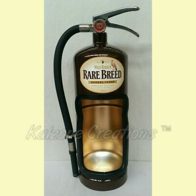 Wild turkey rare Fire Extinguisher Alcohol Bottle Display Case man cave gifts