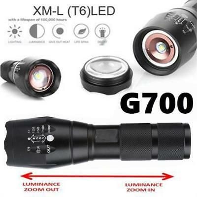 G700 Tactical Flashlight 2000LM LED Military Lumitact Alonefire Zoomable 5 Mode
