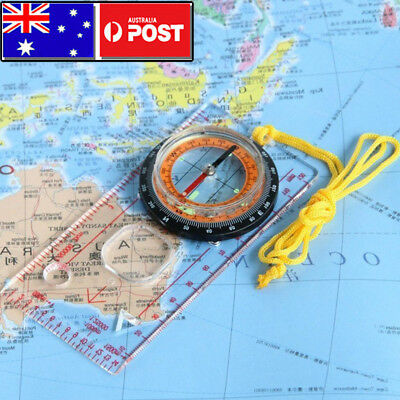 ORIENTEERING BASEPLATE COMPASS Hiking Lensatic Tactical Army Gear Camping Maps