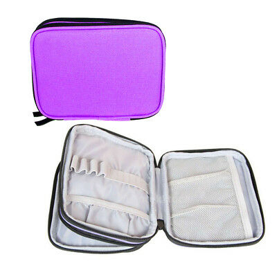 Purple Portable Organizer Case for Circular Knitting Needle Crochet Hook Bag