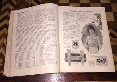 The Women's Magazine 1920-21 Book Antique Sewing Crafts England Clothing