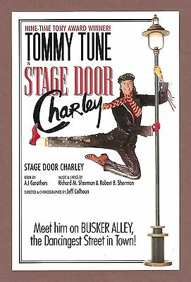 """Tommy Tune """"BUSKERS"""" (""""Stage Door Charley"""") Brent Barrett 1995 FLOP Flyer"""