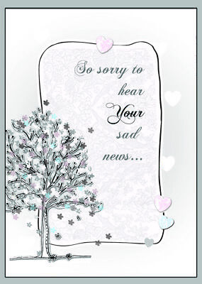 Tracey Russell Sympathy Card Thinking Of You At This Very Sad Time