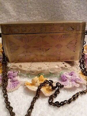 Antique Betel Nut Box1850 -1890 Phillipines with chain