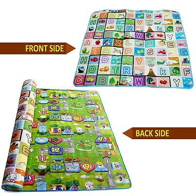 New Double Side Kids Crawling Educational Game Baby Play Mat Soft Foam Playmat