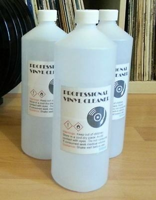 1L  Vinyl Record Cleaning  Fluid + Free 3 Plastic Record Sleeves  ( Knosti )