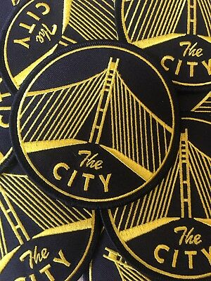 """Golden State Warriors Themed The City Embroidered Patch 3"""""""