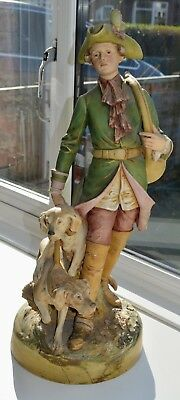 Large Grand Royal Dux Bohemia – The Huntsman with Dogs