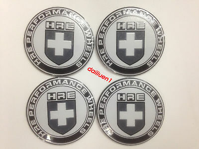 56mm 4pcs THE HRE Car Wheel Center Hub Center Stickers Emblem Decorations