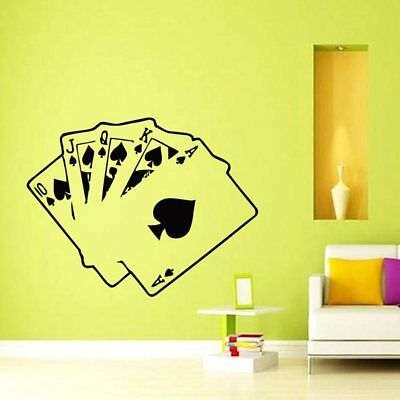 Casino Poker Removable Cards New Poster Art Decor Diy Vinyl Room Wall Sticker