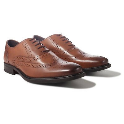 Redfoot Mens Leather Oxford Brogue Neville Lace Up Shoes Wedding Formal Smart