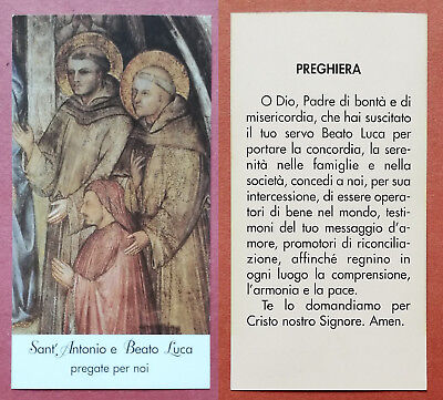 Santino Holy Card: Sant' Antonio e Beato Luca