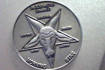 """Lucifer Morning Star   - PEWTER FINISH 3D Coin   1 1/2"""""""