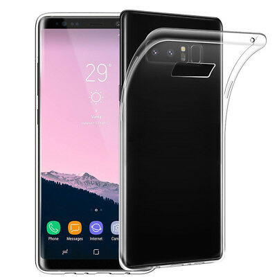 Ultra Slim Transparent Soft Gel Silicone Case Cover For Samsung Galaxy Note 8