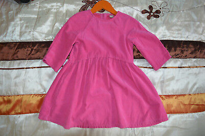 Pink soft cordurouy girls dress, 100% cotton, excellent condition, 4-5 years