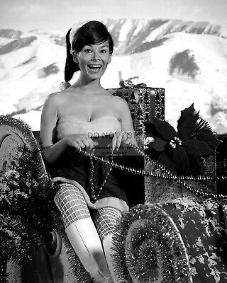 Actress Yvonne Craig Pin Up - 8X10 Christmas Themed Publicity Photo (Fb-122)