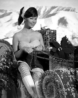 Actress Yvonne Craig Pin Up - 8X10 Christmas Themed Publicity Photo (Fb-123)