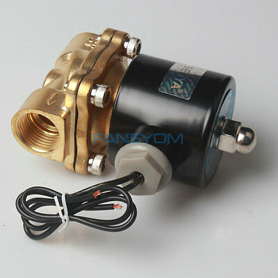 "Hot -HU 1/2"" Brass Electric Solenoid Valve 110V AC Water Air Normally Closed N/C"
