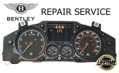 REPAIR SERVICE for BENTLEY CONTINENTAL INSTRUMENT SPEEDOMETER CLUSTER 2005-2010