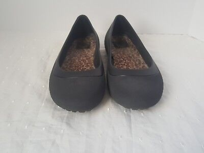 CROCS Women's Size 9w GRAY BALLET FLAT SLIP ON SHOES