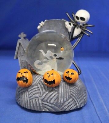 Nightmare Before Christmas Jack Skellington &  Zero Light up Musical Snowglobe