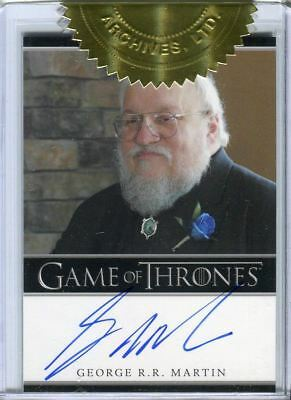 GAME OF THRONES Season 2 Two Incentive Autograph Card  George Martin