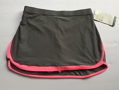 Champion C9 Girls Exercise Skirt Skort Size L 10-12 Gray Pink Duo Dry Max Nwt