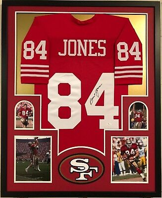 BRENT JONES AUTOGRAPHED SIGNED San Francisco 49 s Jersey  84 ... e0cce8ae5