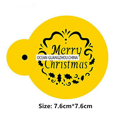 2 Pcs Packed Christmas Cookie Cake Stencil Decorate Mold Fondant Biscuit Tool