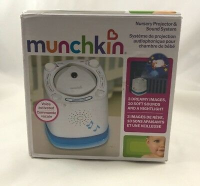 Munchkin Nursery Projector & Sound System - Voice Activated, 10 Soft Sounds