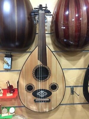 Electric oud Flat with bag and an equalizer and audio output