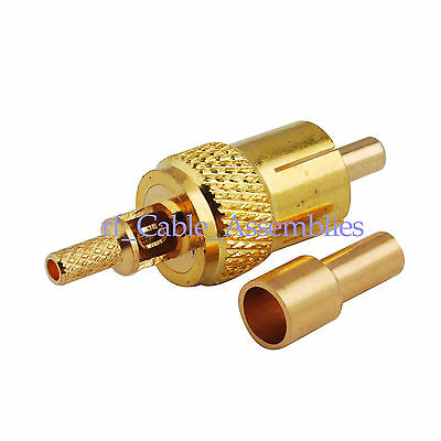 20pcs RCA Plug male Crimp for RG174 RG316 LMR100 cable goldplated RF connector