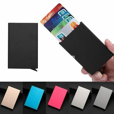Aluminium Pop Up RFID Blocking Pocket Slim ID Credit Card Case Holder Wallet Box