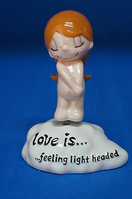 Love is...Feeling Light Headed Girl Bobble Figurine Kim Retired 17903