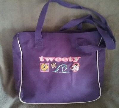 Tweety Bird Sylvester Looney Tunes tote bag shopping books library + free gift