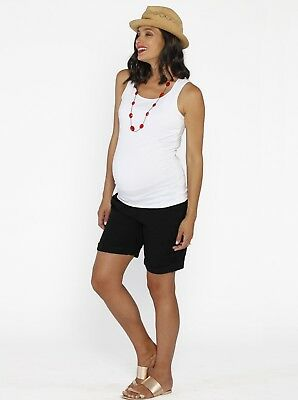 Basic Nursing Cotton Tee & Casual Maternity Shorts - Summer Outfit