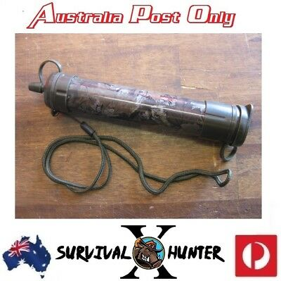 Water Straw Filter Purifier Portable Outdoor Camping Emergency Survival Hiking