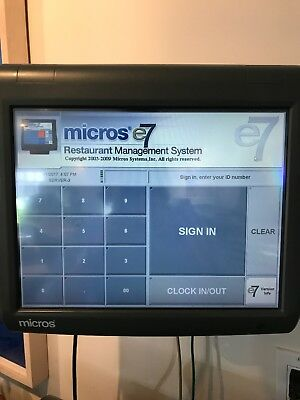 MICROS Point of Sale System Series E7