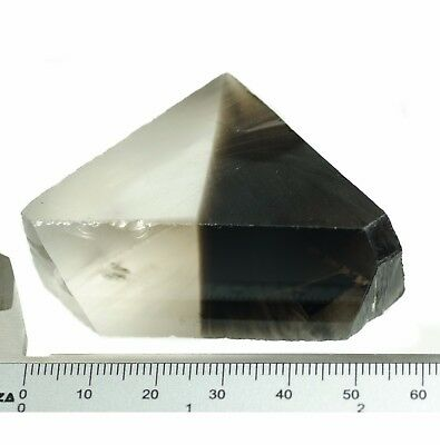 58.5gr Hydrothermal Smoky Quartz Bi-Color Lab Created Faceting Rough Stone