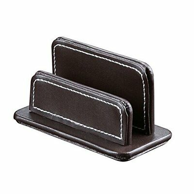 UnionBasic PU Leather Business Name Card Holder Stand Desktop Organizer Brown