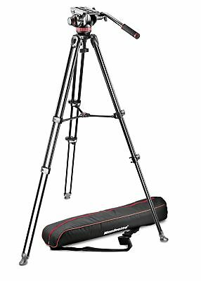 Manfrotto MVK502AM-1 Tripod with fluid video head, Aluminium Telescopic Twin Leg