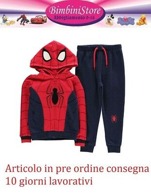 Tuta Spiderman originale marvel 2 3 4 5 6 7 8 9 10 new felpa pre