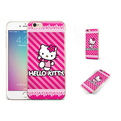 Cute Hello Kitty Lace Rose Red Phone Case Cover For iPhone Samsung LG F13025