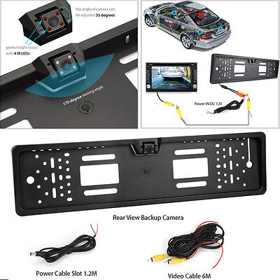 Car Rear View Reverse Camera Backup License Number Plate Night Vision IR LED 170
