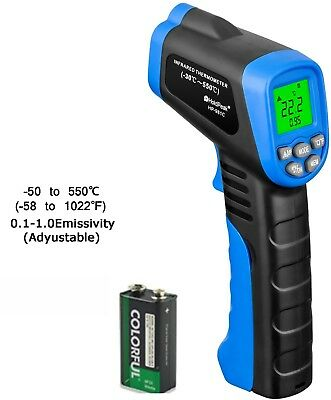 Laser Infrared Thermometer, HOLDPEAK 981C Non-Contact Laser IR Temperature Gun