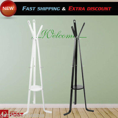 Wooden Coat Rack Hat Rack Stand Clothes Hanger Cloth Rack Stand Tree Storage AU