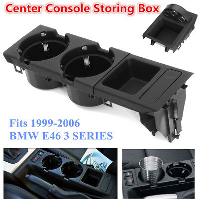 FOR BMW Drink / Cup Holder & Oddments Tray - 3 Series E46 - Black BOX