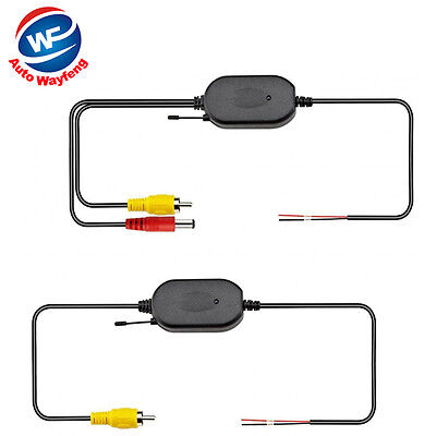 2.4G Wireless RCA Video Receiver & Transmitter for Car Rear View Camera Monitor